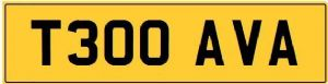 AVA T Private CHERISHED Registration Number Plate AVA AVANI